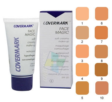 Covermark Linea Face Magic Fondotinta Lunga Tenuta Coprente Viso 30 ml Colore 1